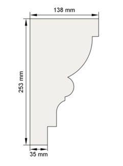 Изображение Венчающий карниз КВ11 декор лепнина размеры