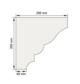Изображение Венчающий карниз КВ12 декор лепнина размеры