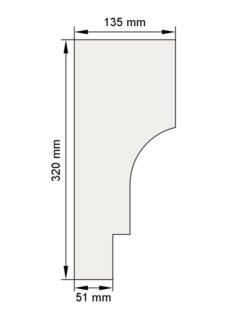 Изображение Венчающий карниз КВ15 декор лепнина размеры