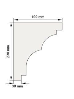 Изображение Венчающий карниз КВ16 декор лепнина размеры