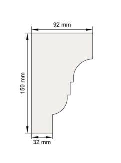 Изображение Венчающий карниз КВ2 декор лепнина размеры
