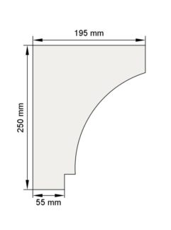 Изображение Венчающий карниз КВ20 декор лепнина размеры