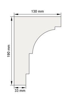 Изображение Венчающий карниз КВ5 декор лепнина размеры