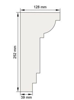 Изображение Межэтажный карниз декор лепнина км10 размеры