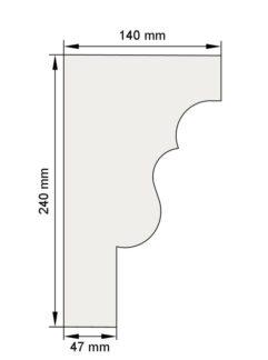 Изображение Межэтажный карниз декор лепнина км11 размеры