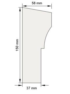 Изображение Межэтажный карниз декор лепнина км15 размеры