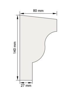 Изображение Межэтажный карниз декор лепнина км19 размеры
