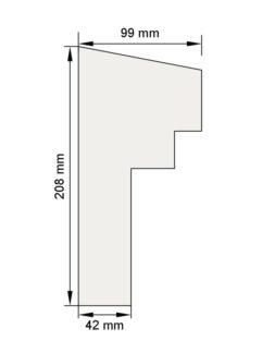 Изображение Межэтажный карниз декор лепнина км2 размеры