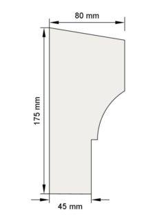 Изображение Межэтажный карниз декор лепнина км24 размеры
