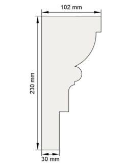 Изображение Межэтажный карниз декор лепнина км4 размеры
