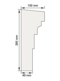 Изображение Межэтажный карниз декор лепнина км6 размеры