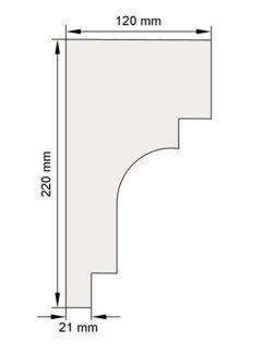 Изображение Межэтажный карниз декор лепнина км7 размеры