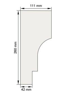 Изображение Межэтажный карниз декор лепнина км8 размеры