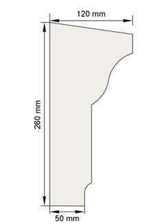 Изображение Межэтажный карниз декор лепнина км9 размеры