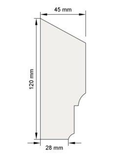 Изображение Цокольный карниз КЦ10 декор лепнина размеры