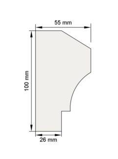 Изображение Цокольный карниз КЦ11 декор лепнина размеры
