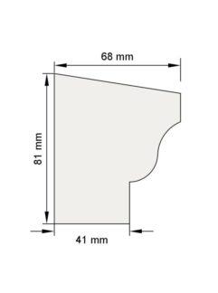 Изображение Цокольный карниз КЦ12 декор лепнина размеры