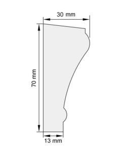 Изображение Цокольный карниз КЦ14 декор лепнина размеры