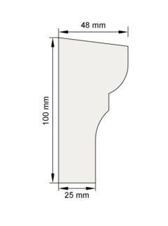 Изображение Цокольный карниз КЦ15 декор лепнина размеры
