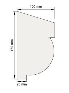 Изображение Цокольный карниз КЦ19 декор лепнина размеры