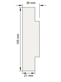 Изображение Цокольный карниз КЦ2 декор лепнина размеры