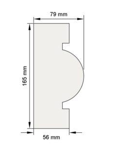 Изображение Цокольный карниз КЦ20 декор лепнина размеры