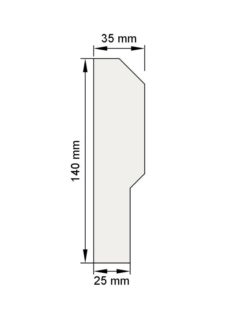 Изображение Цокольный карниз КЦ21 декор лепнина размеры