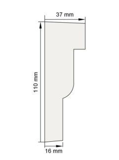 Изображение Наличник Н15 декор лепнина размеры