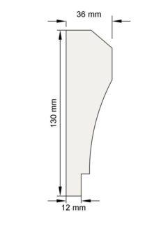 Изображение Наличник Н17 декор лепнина размеры