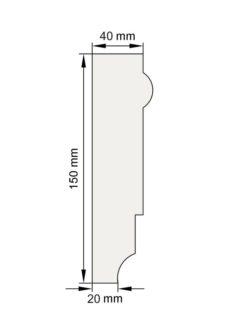 Изображение Наличник Н23 декор лепнина размеры
