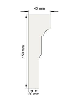 Изображение Наличник Н9 декор лепнина размеры