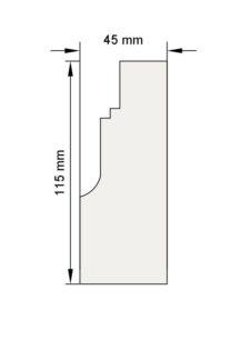 Изображение пилястра декор лепнина пл8 размеры