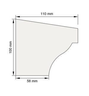 Изображение Подоконный карниз П1 декор лепнина размеры