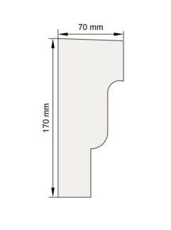Изображение Подоконный карниз П11 декор лепнина размеры