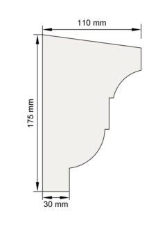 Изображение Подоконный карниз П18 декор лепнина размеры