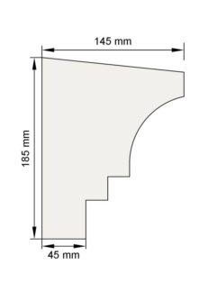 Изображение Подоконный карниз П19 декор лепнина размеры