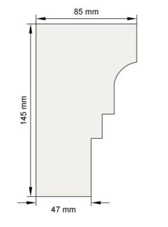 Изображение Подоконный карниз П2 декор лепнина размеры