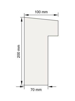 Изображение Подоконный карниз П20 декор лепнина размеры