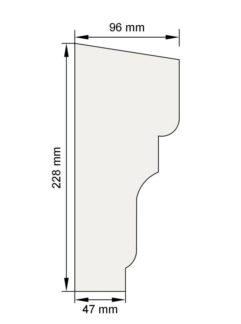 Изображение Подоконный карниз П21 декор лепнина размеры