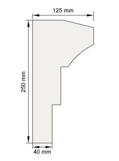 Изображение Подоконный карниз П22 декор лепнина размеры