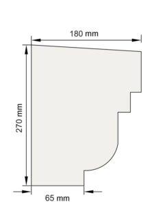 Изображение Подоконный карниз П23 декор лепнина размеры