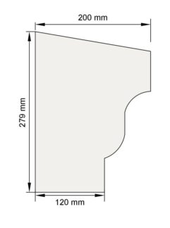 Изображение Подоконный карниз П24 декор лепнина размеры