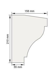 Изображение Подоконный карниз П3 декор лепнина размеры