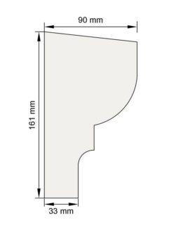 Изображение Подоконный карниз П4 декор лепнина размеры