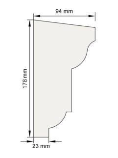 Изображение Подоконный карниз П5 декор лепнина размеры