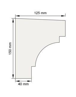 Изображение Подоконный карниз П6 декор лепнина размеры