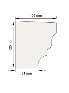 Изображение Подоконный карниз П7 декор лепнина размеры