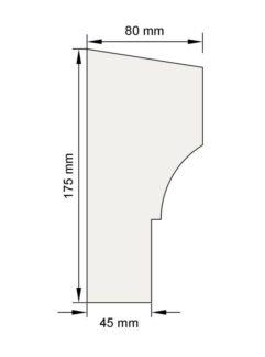 Изображение Подоконный карниз П8 декор лепнина размеры