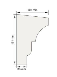 Изображение Подоконный карниз П9 декор лепнина размеры
