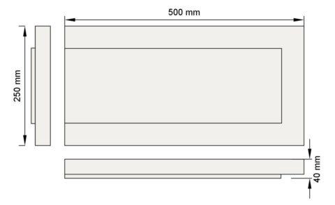 Изображение руст три фаски декор лепнина рс5-1 размеры